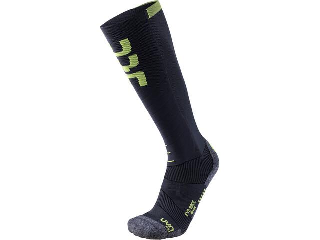 UYN Evo Race Ski Socks Herre anthracite/green lime